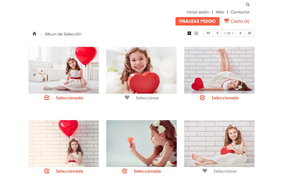 Selección y descarga de fotos