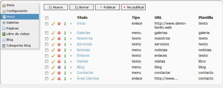 Gestión de contenidos web para fotógrafos de Arcadina