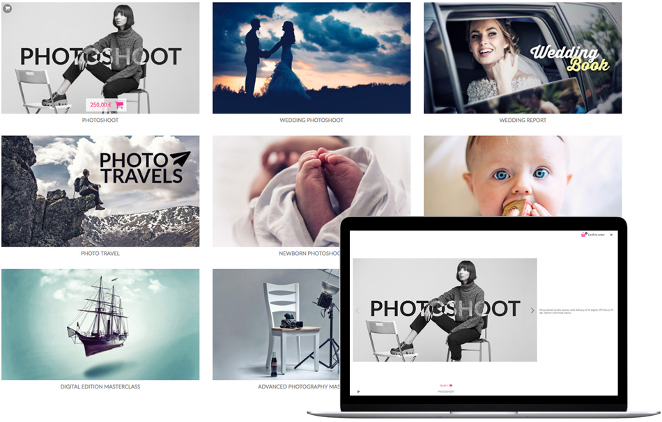 Sale of photographic products and services