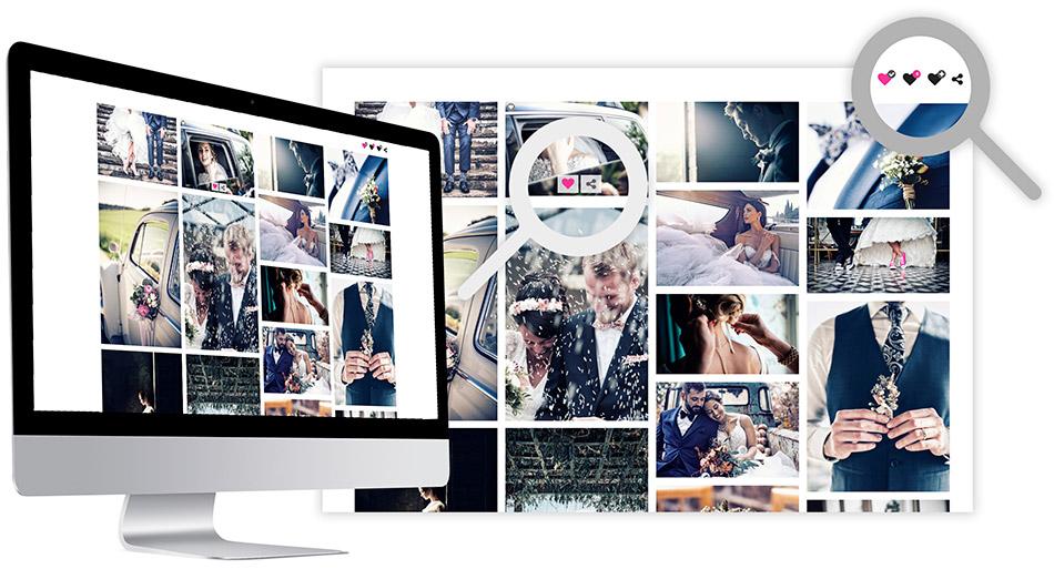 Galleria di selezione di foto e video