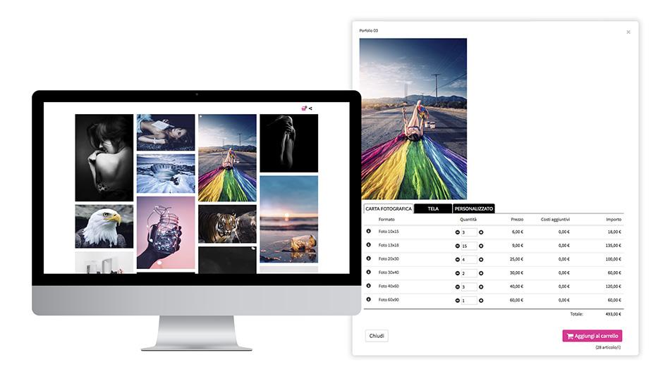 Galleria fotografica privata in vendita con formati di stampa