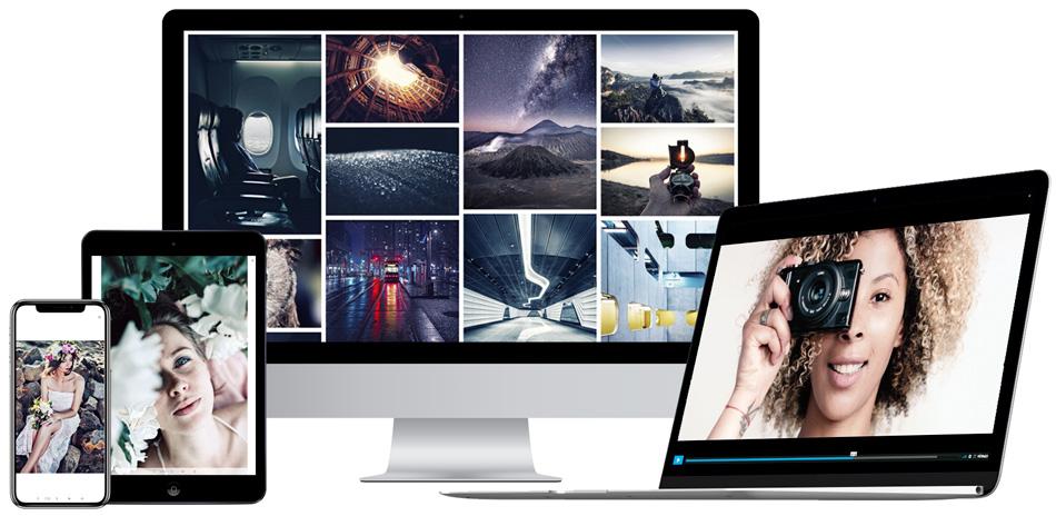 Crea galerías de fotos y vídeo de máxima calidad