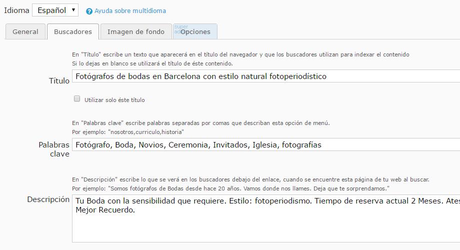 Arcadina - Panel de gestion web
