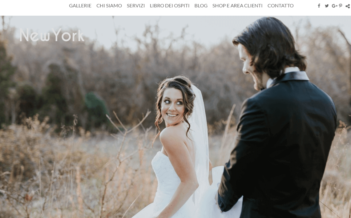 Crea un sito web di fotografia