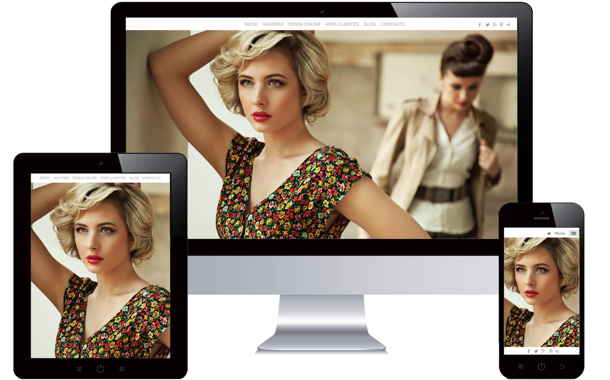 Webs para fotógrafos en todos los dispositivos