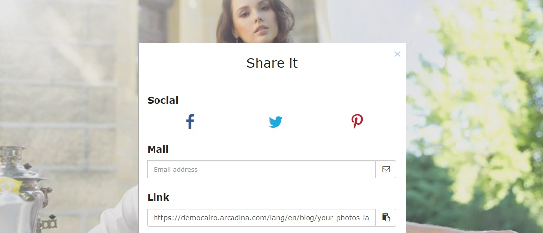 Blogs for photographers - Share on social networks