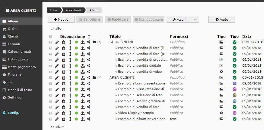 Crea il tuo proprio sito di vendita di foto