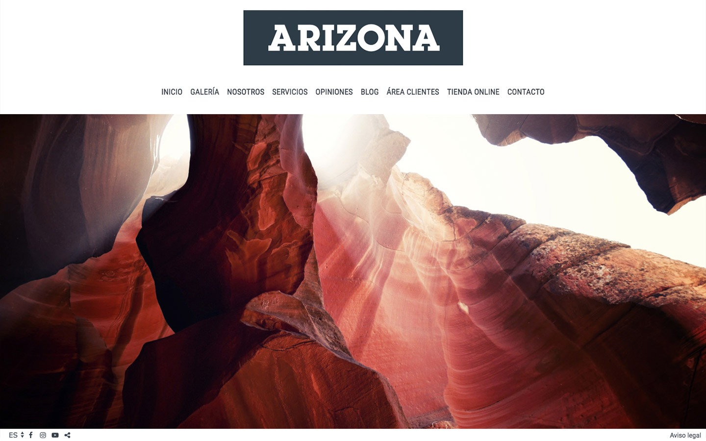 Sito web per a fotografi. Web design Arizona