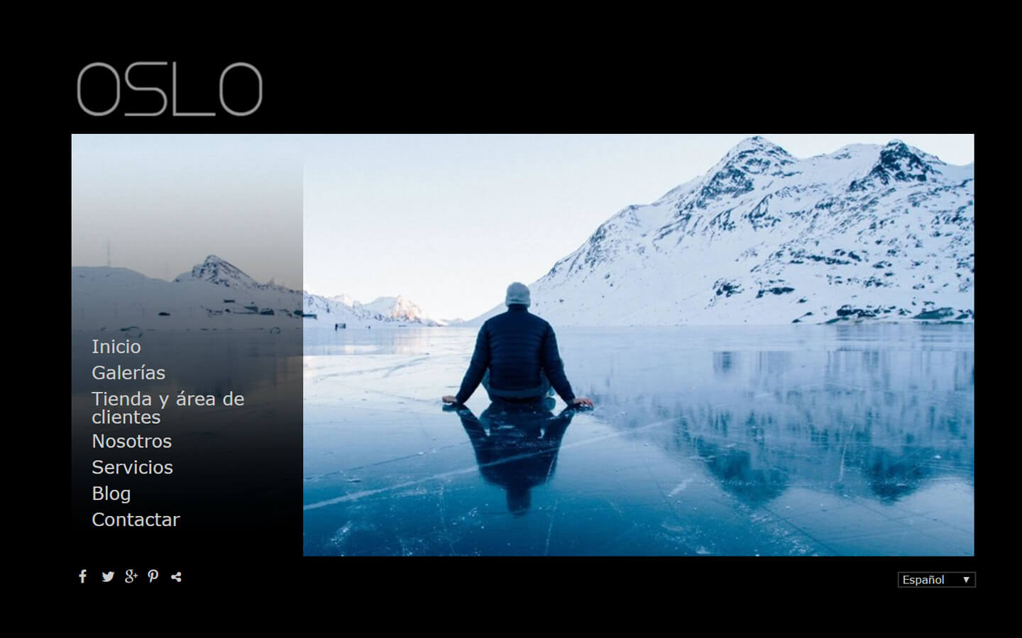 Photographers website. Design: Oslo