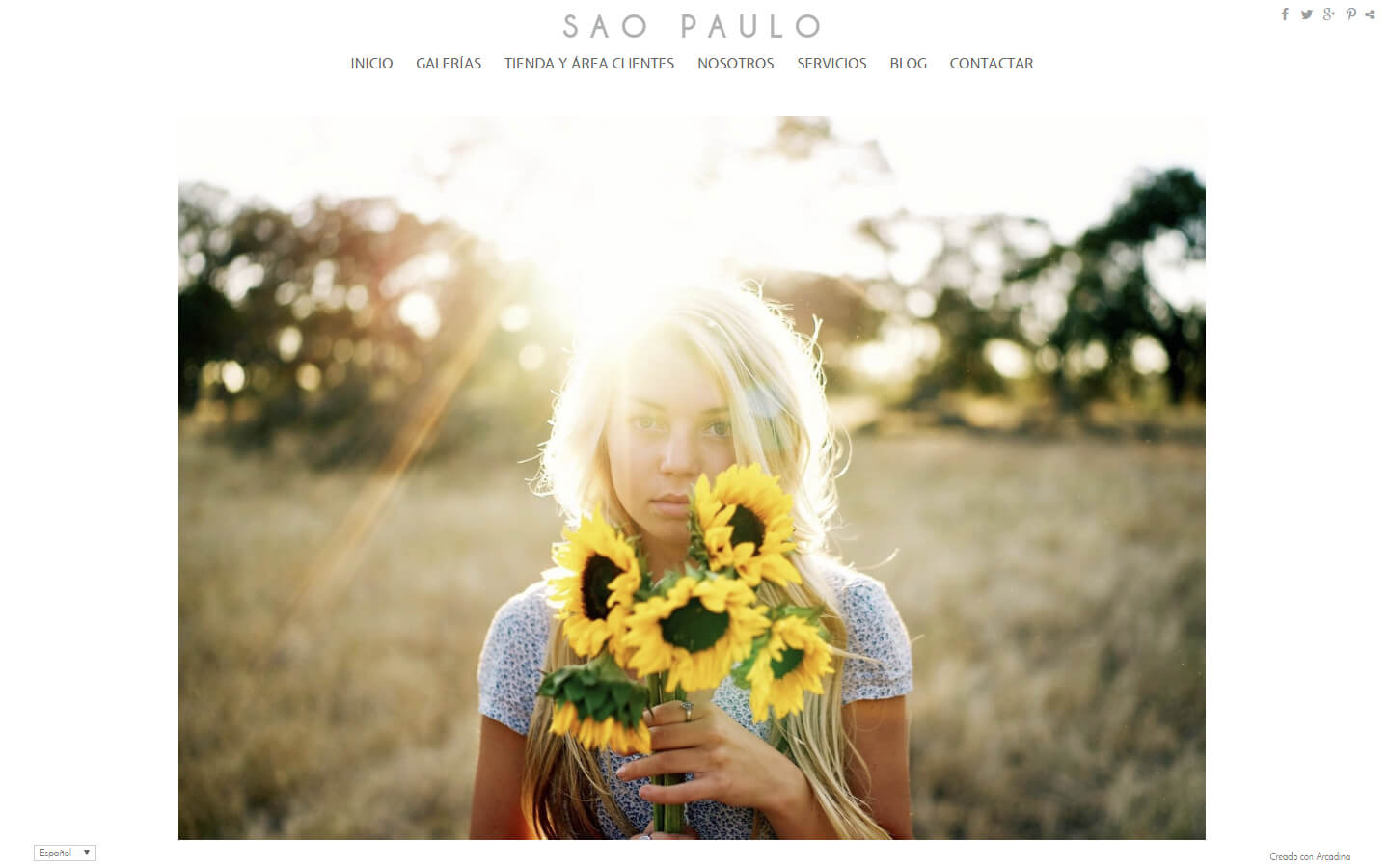 Photographers website. Design: Sao Paulo