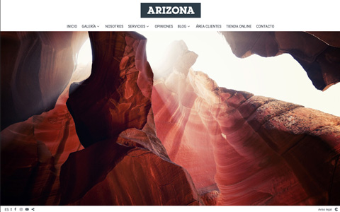 Sito web con blog per i fotografi - Theme arizona
