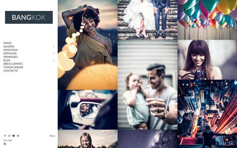 Sito web con blog per i fotografi - Theme bangkok
