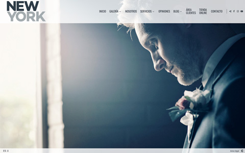 Photographer Website - Theme newyork