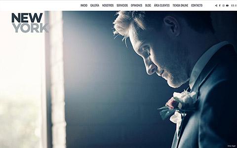 Sito web con blog per i fotografi - Theme newyork