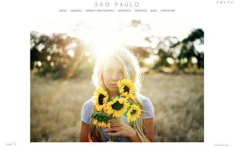 Photographer Website - Theme saopaulo